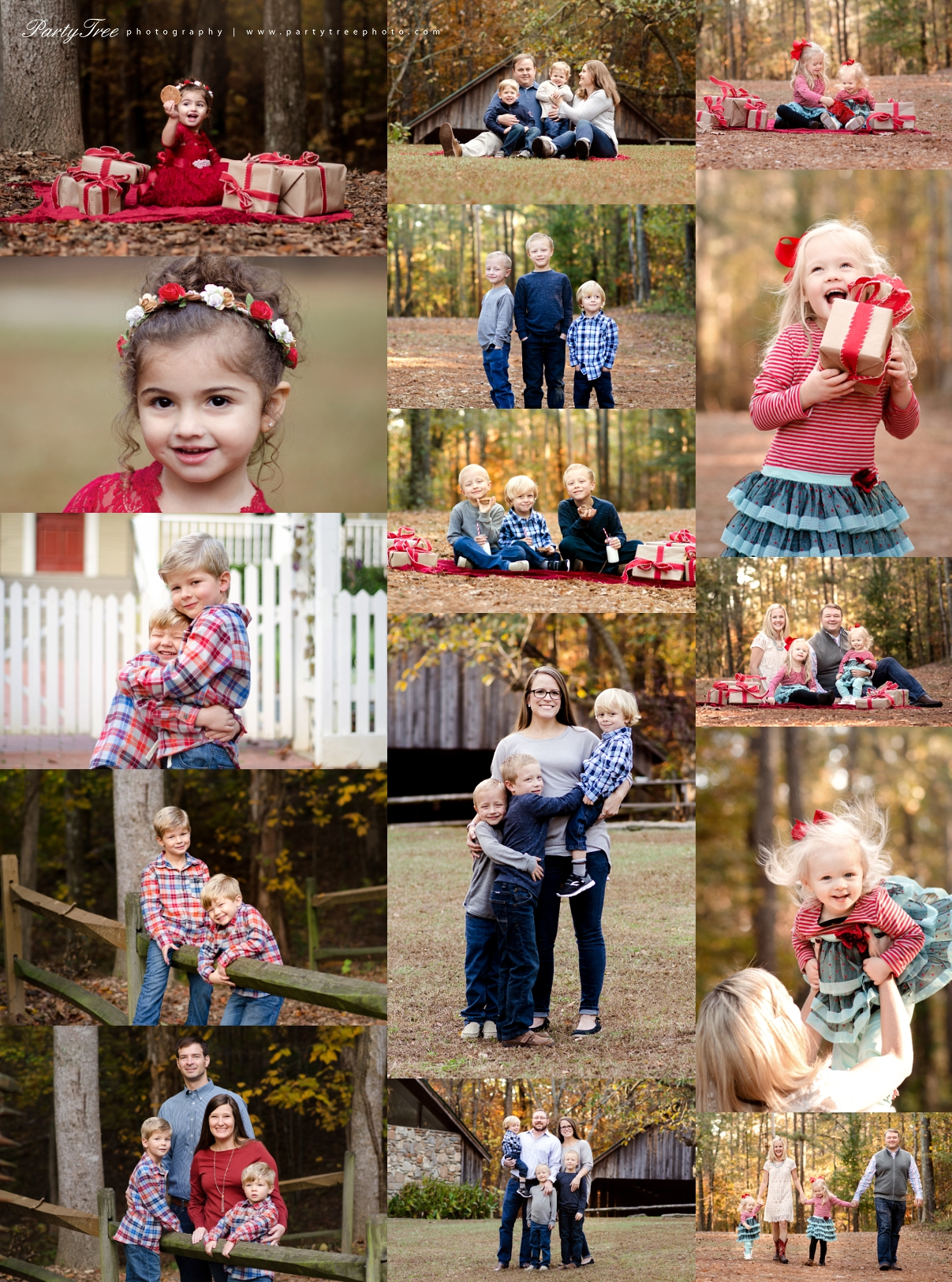 Johns Creek GA family photographer Christmas Mini Sessions Autrey Mill Nature Preserve Party Tree Photography
